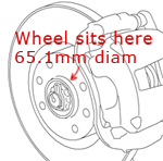 C4 wheel spigot